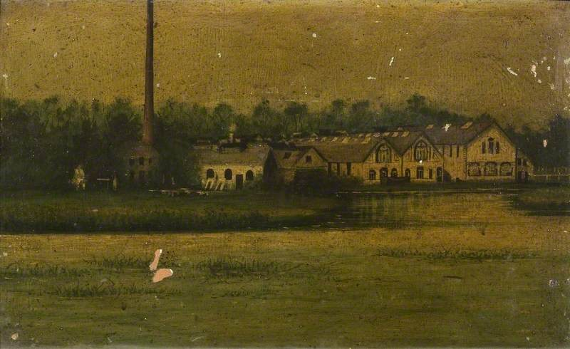 Little Paxton Papermill from the Common, Cambridgeshire