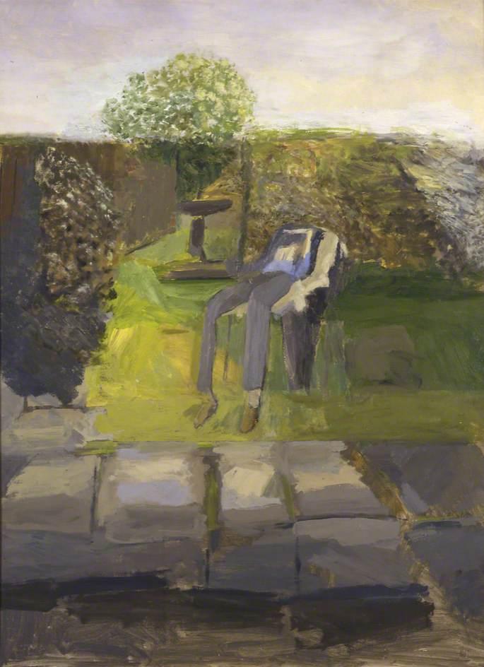 Man Resting in a Garden