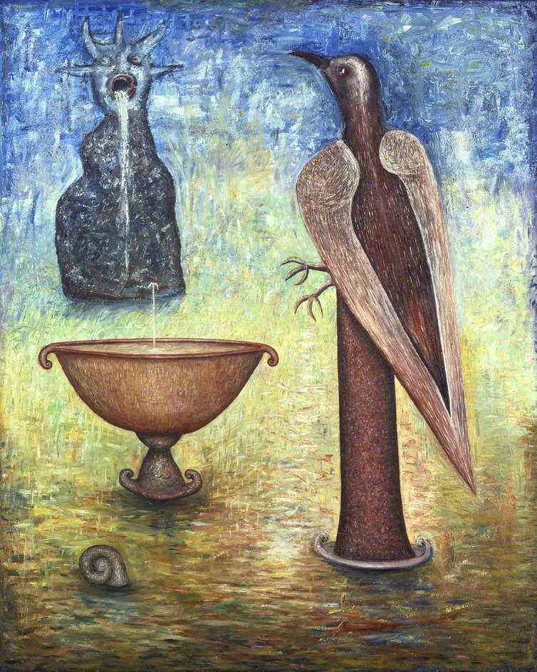 Bird and Fountain