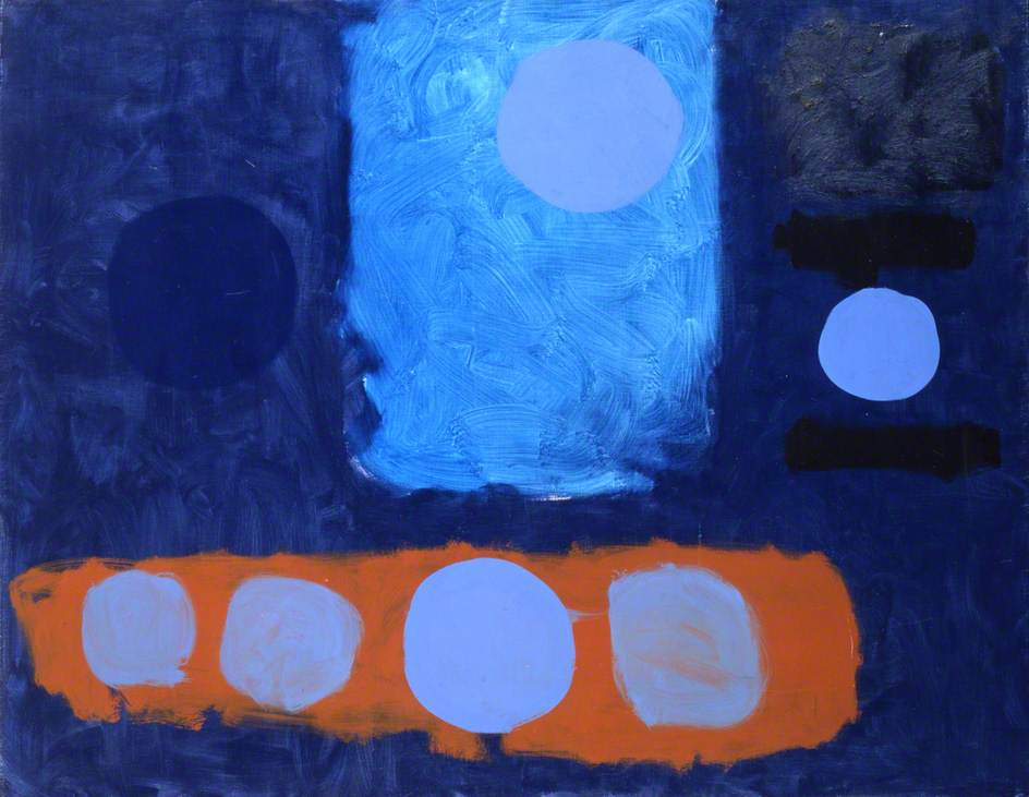 Blue Painting with Discs : September 1962