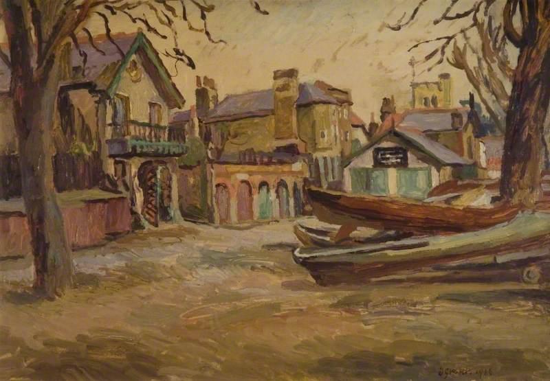 Boats at Twickenham