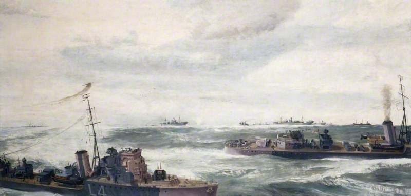 A Destroyer Escort in Attack