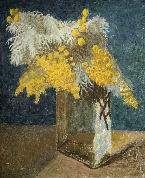 Artemisia in a Glass Vase