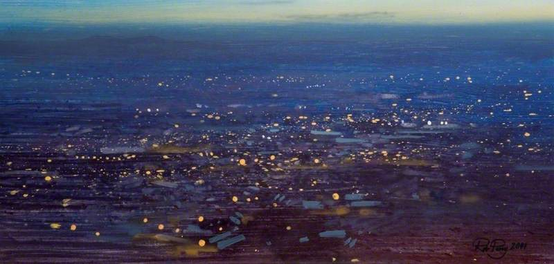 Nightfall over the Black Country, View from Turner's Hill, Dudley, the Habberleys just Visible 6.45pm, Thursday 18 October 2001