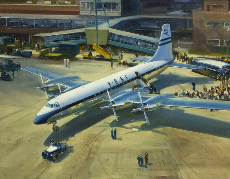 'Bristol Britannia' at Heathrow Airport