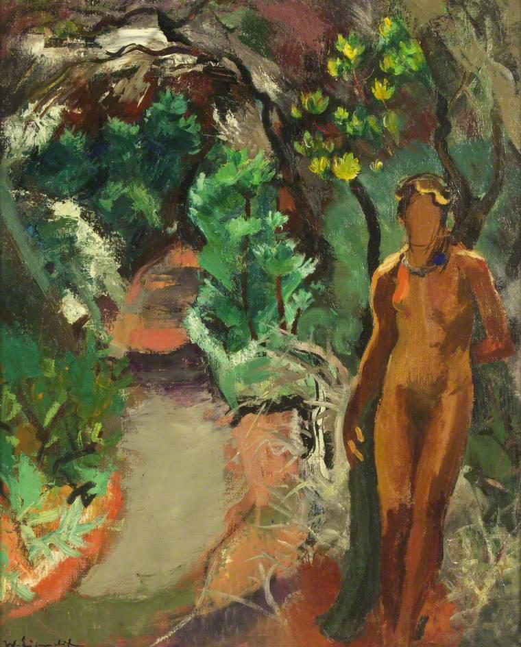 Figure in a Garden