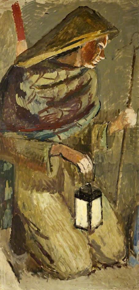 Study for Berwick Church: The Shepherd