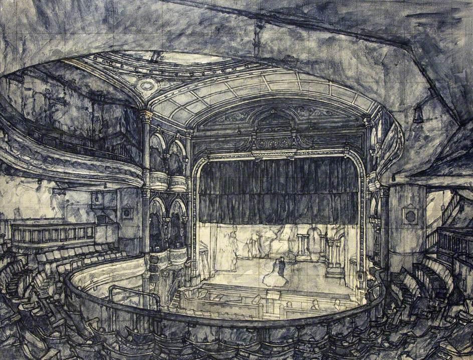The Darkened Theatre, Interior Scene of the Bristol Empire and Music Hall in the 1940s