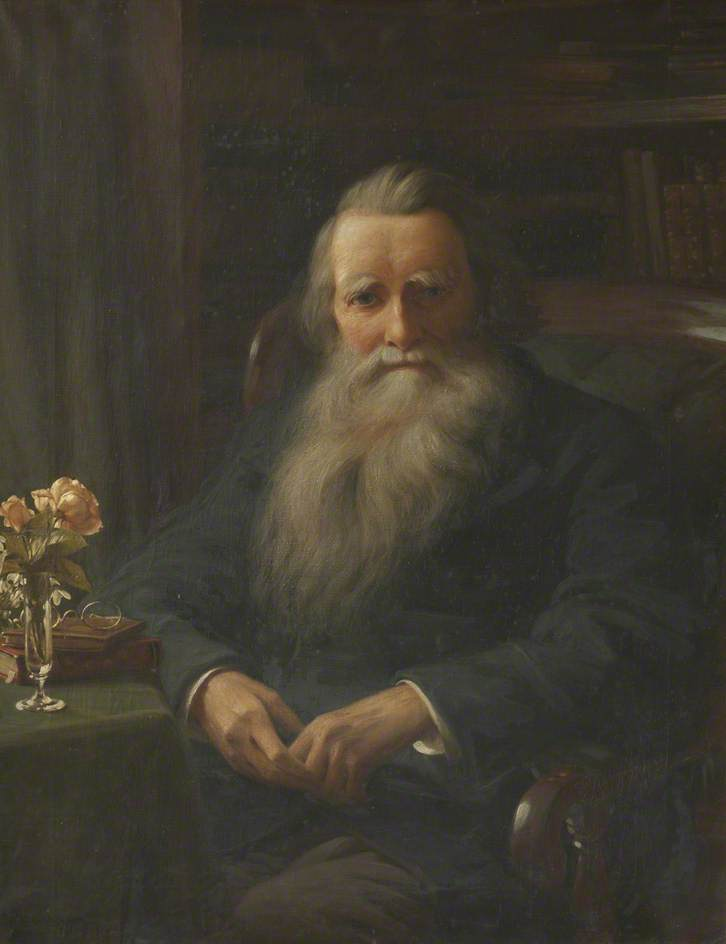 John Ruskin (1819–1900), in His Study at Brantwood