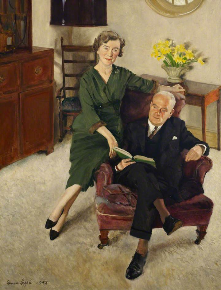 Sir John Lockwood, Master (1951–1965), and Lady Lockwood