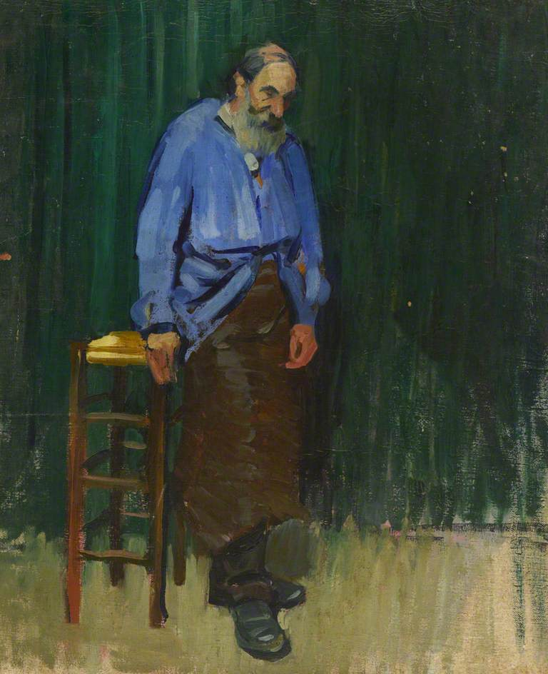 Old Man in a Blue Smock