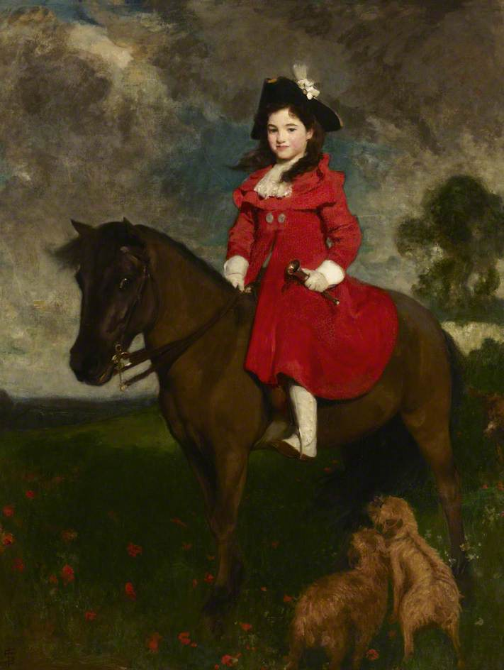 The Field, the Artist's Daughter on a Pony