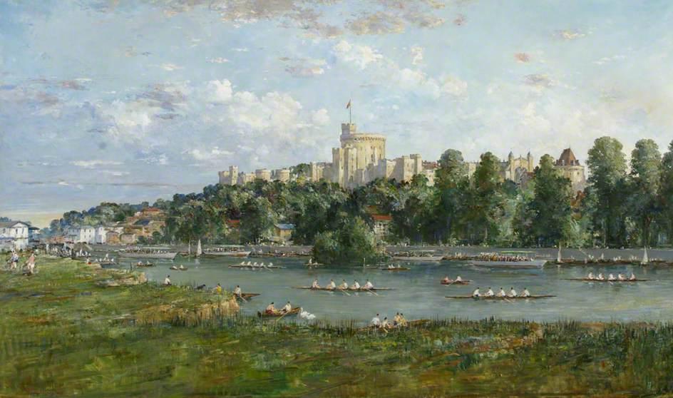 The Thames at Windsor – A Regatta Scene