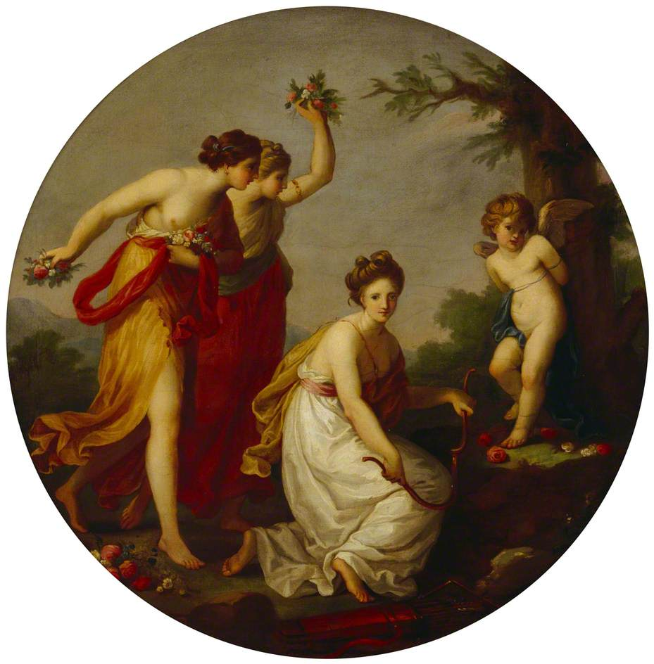 Cupid Bound by the Graces