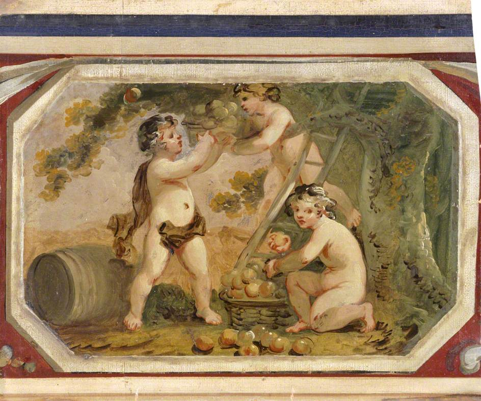 Putti Picking Apples