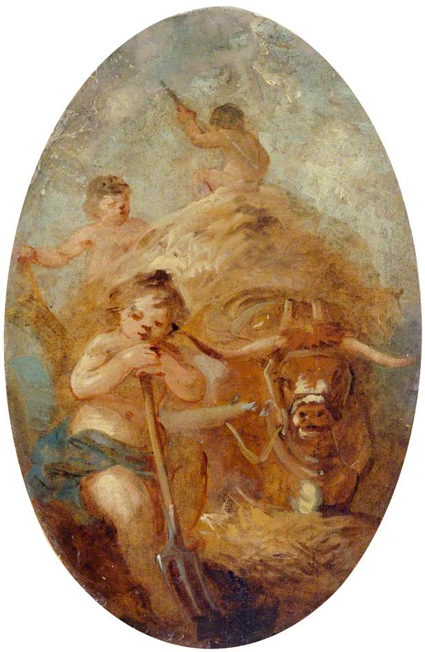 Putti Carting Hay