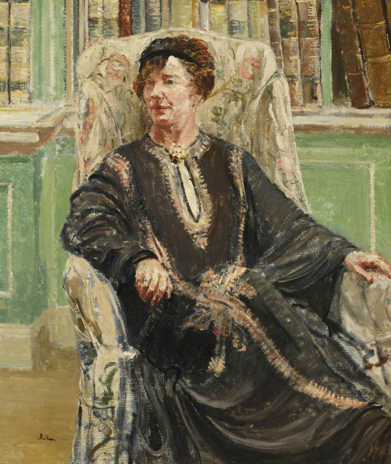 Dame Freya Stark (1893–1993), Seated in a Chair