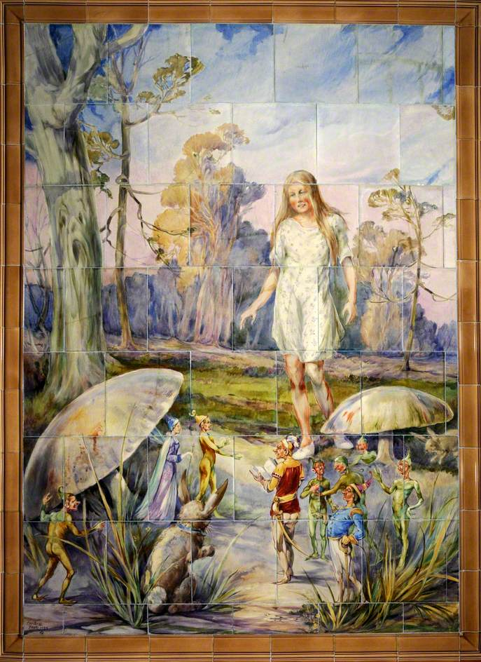 Young Girl with Fairies