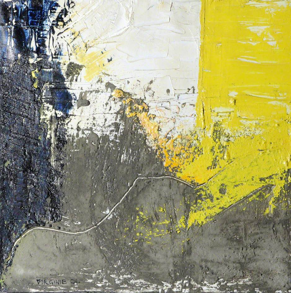 Black And Yellow Abstract Art Uk
