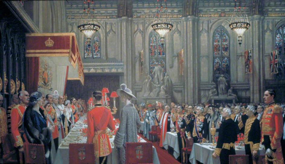 The Coronation Luncheon at the Guildhall, London, 19 May 1937, the Toast to the King