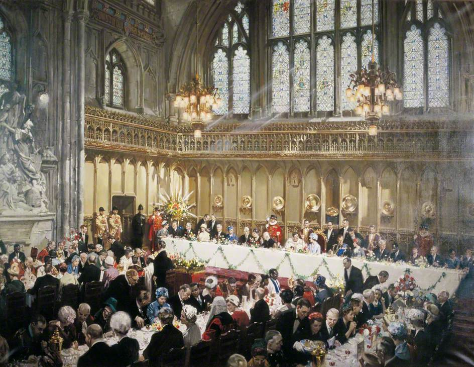 Luncheon in the Guildhall, London, to Her Majesty the Queen and the Duke of Edinburgh, 10 March 1961