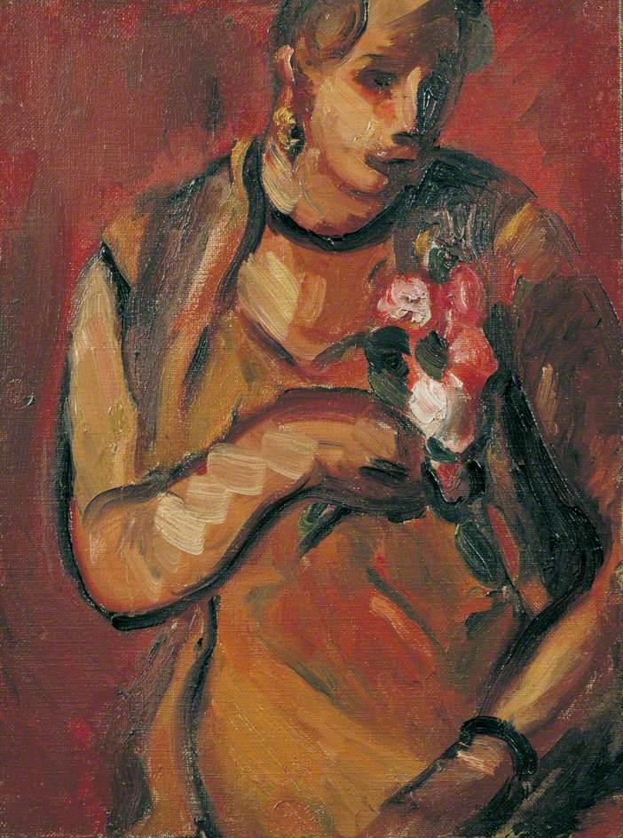 Vera Holding Flowers