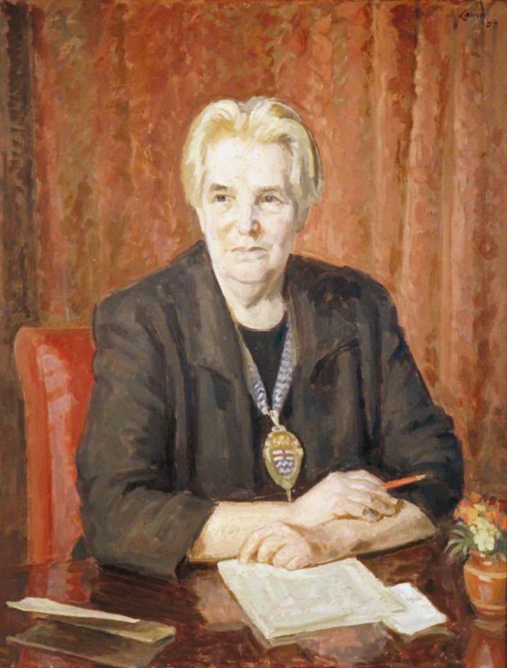 Mrs Helen Caroline Bentwich, née Franklin (1892–1972), Chairman of London County Council