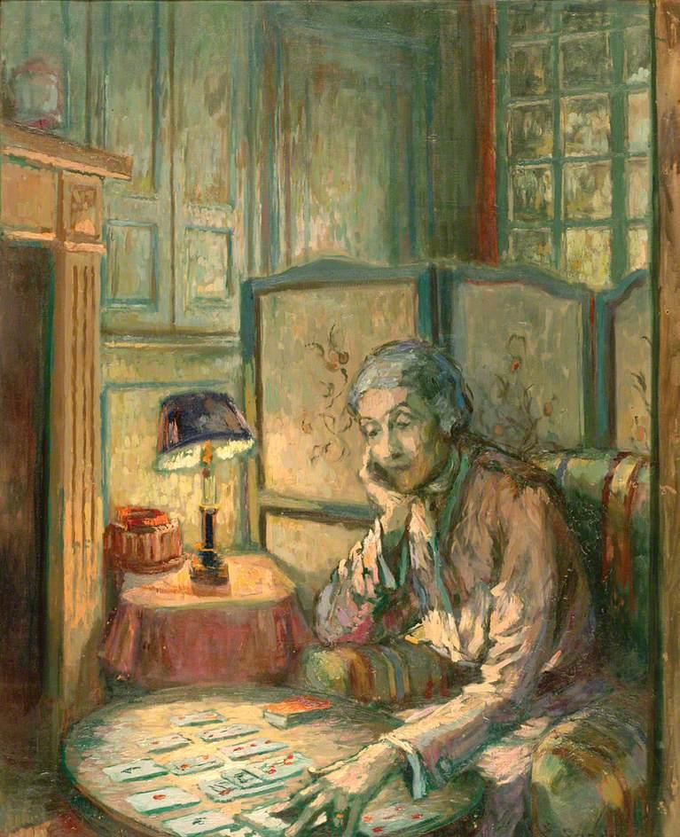 Nan Hudson Playing Patience at Auppegard, France