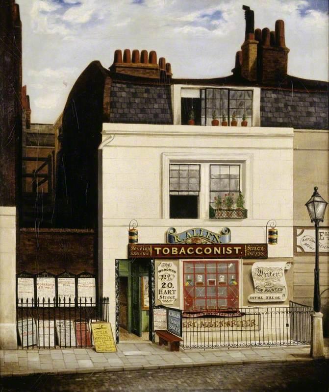 Allen's Tobacconist Shop, 'The Woodman', 20 Hart Street, Grosvenor Square, London