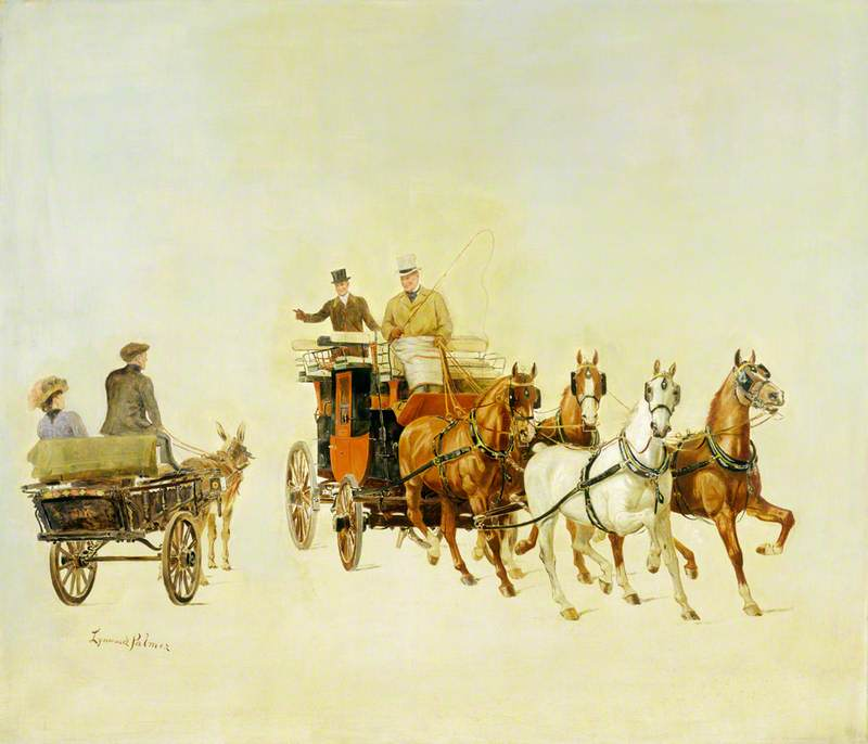 A Dog Cart and Stage Coach at Olympia, London