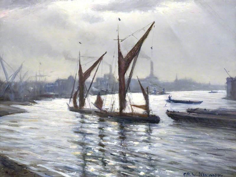 The Thames at Deptford, London
