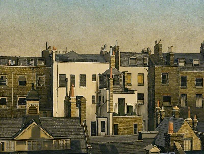 The Backs of Houses, Harley Street, London