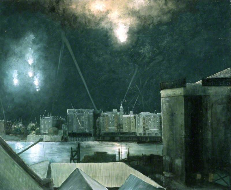 Night Raid over London Docklands