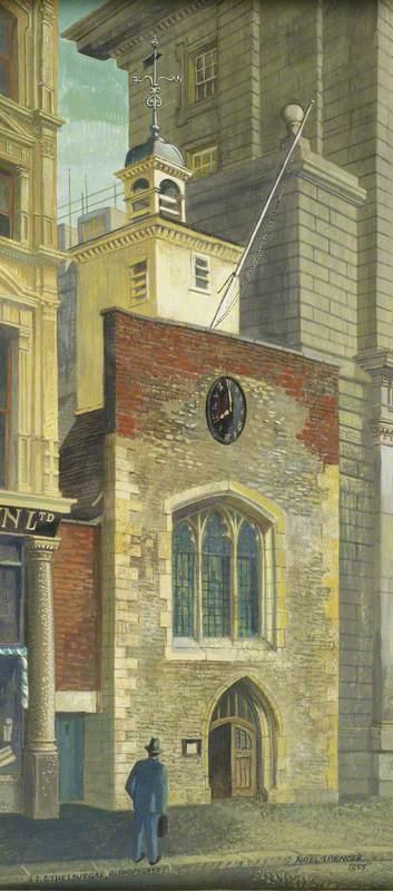 Facade of the Church of St Ethelburga, Bishopsgate, London