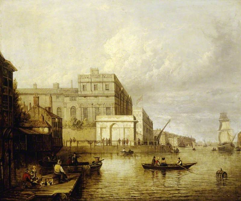 Greenwich Hospital from the River, London