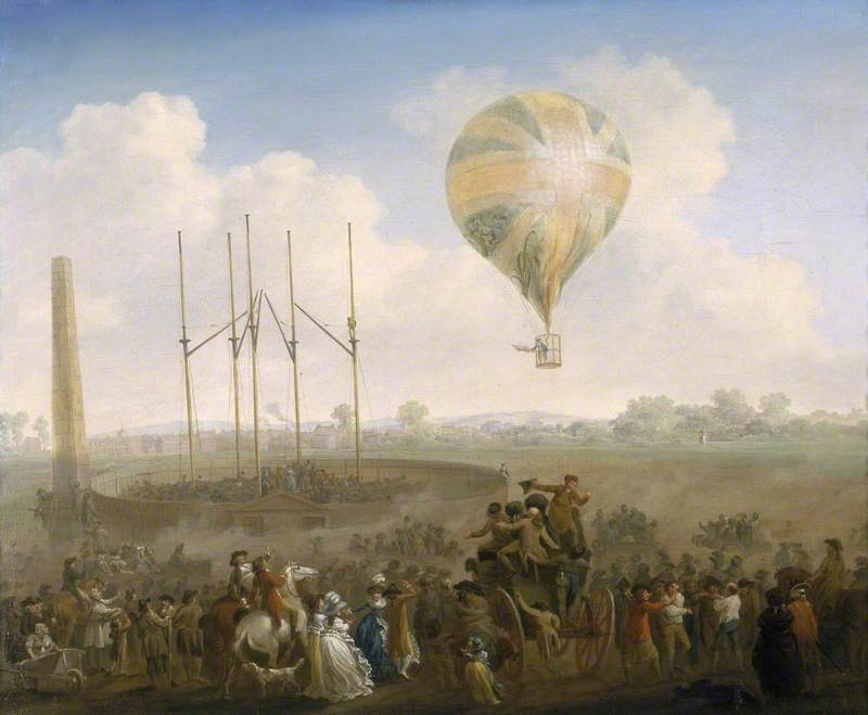 The Ascent of Lunardi's Balloon from St George's Fields, London