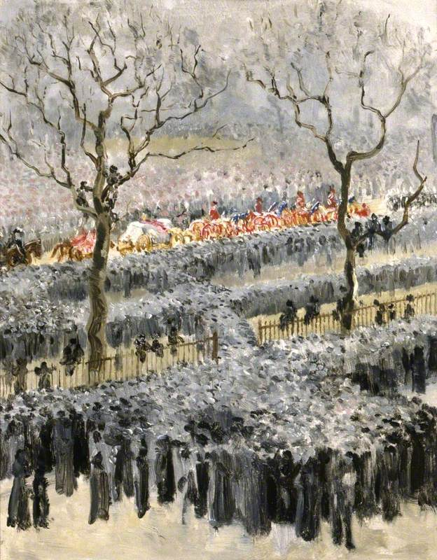 The Funeral Procession of Queen Victoria Passing through Hyde Park, London