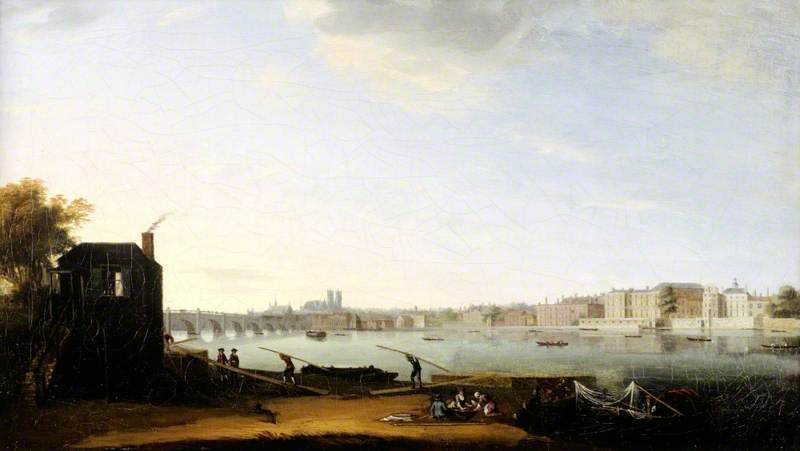 Westminster Bridge and Whitehall from the Lambeth Shore, London