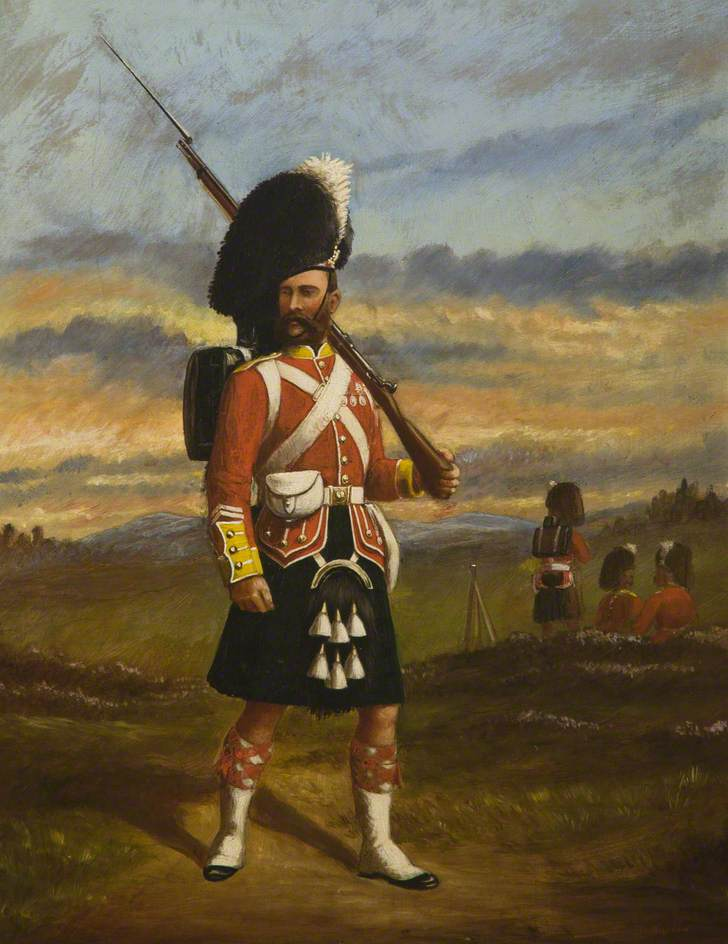 Portrait of a Private Soldier of The 93rd Highlanders