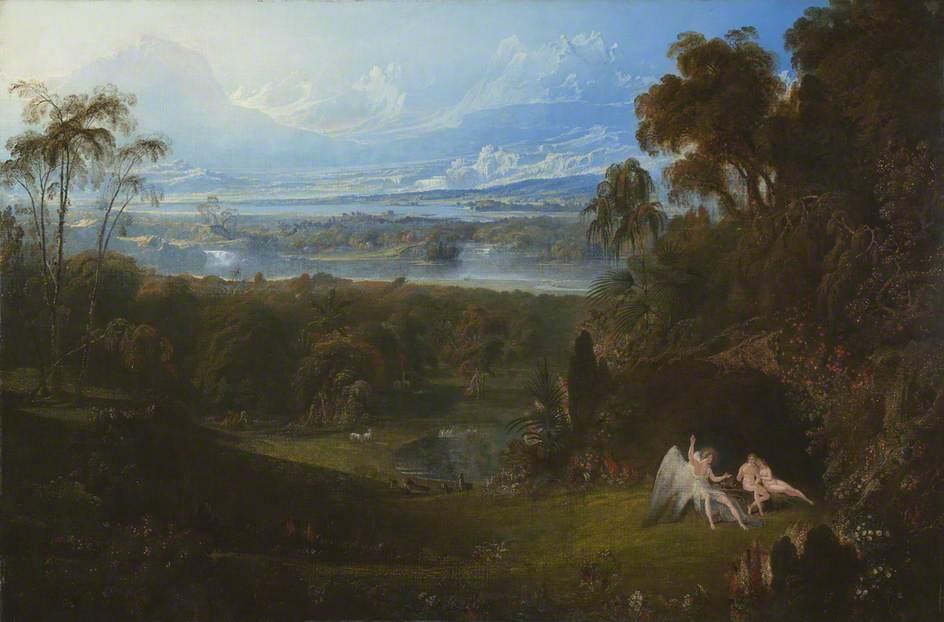 Adam and Eve Entertaining the Angel Raphael