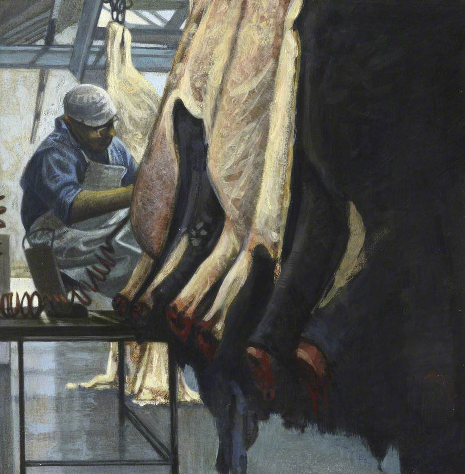Skinning a Line of Heifers