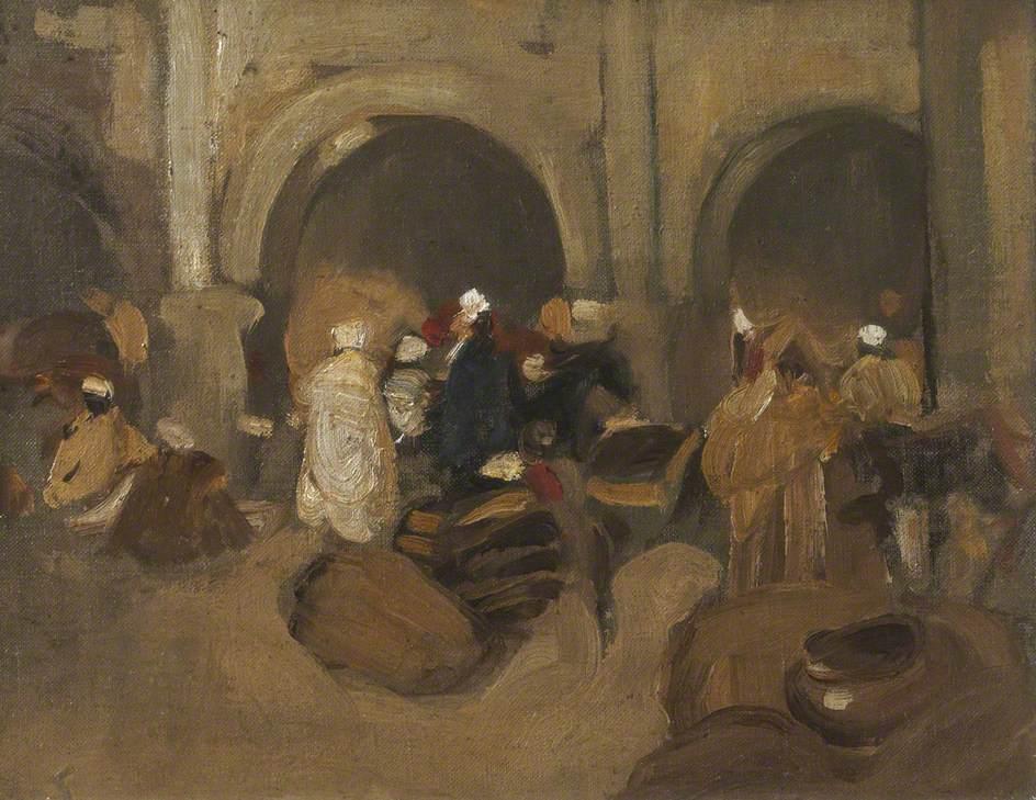 A Bazaar in Tangier