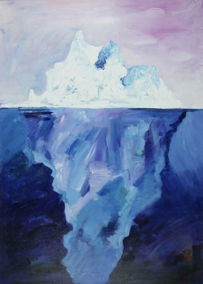 Iceberg and Midnight Sun