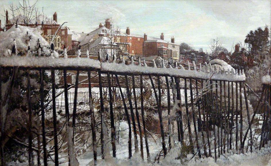 Railings in the Snow, Guildford