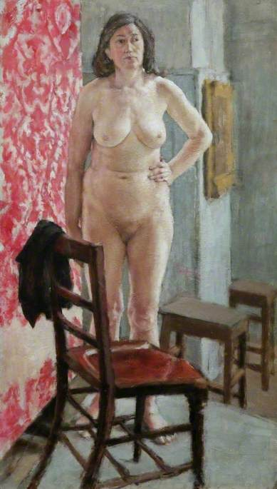 Study of a Nude by a Chair