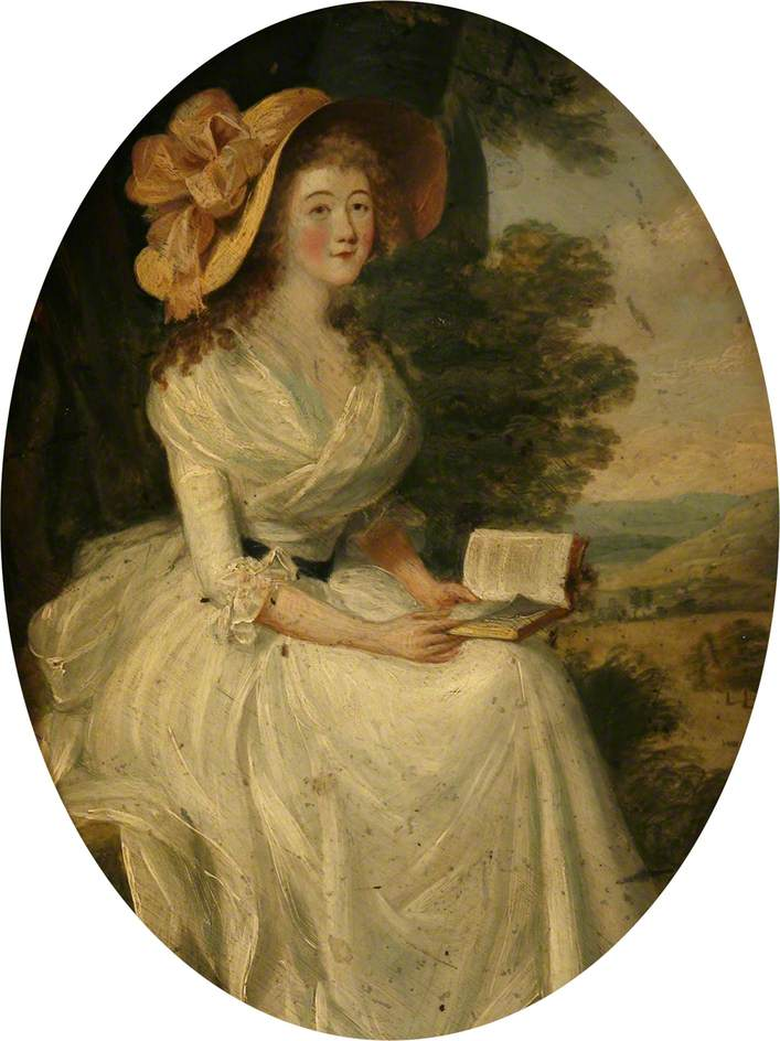 Portrait of a Lady Seated in a Landscape