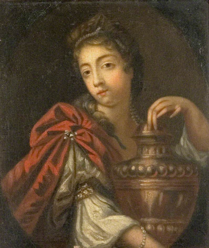 Lady Holding a Large Urn