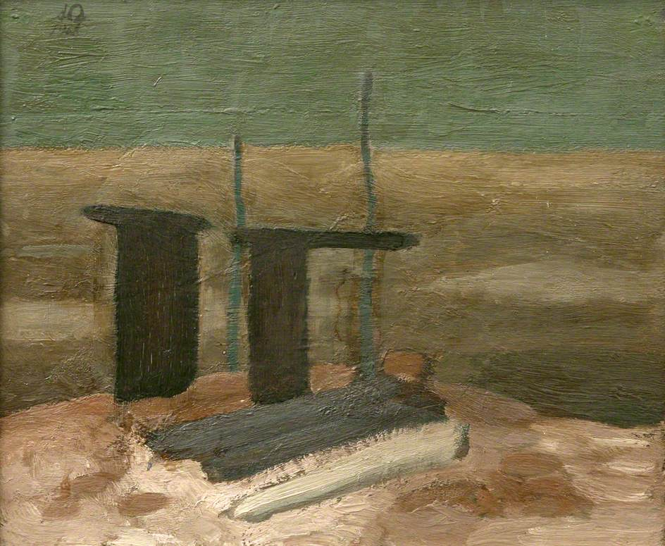 Sketch for 'Landscape with Ruined Shed'