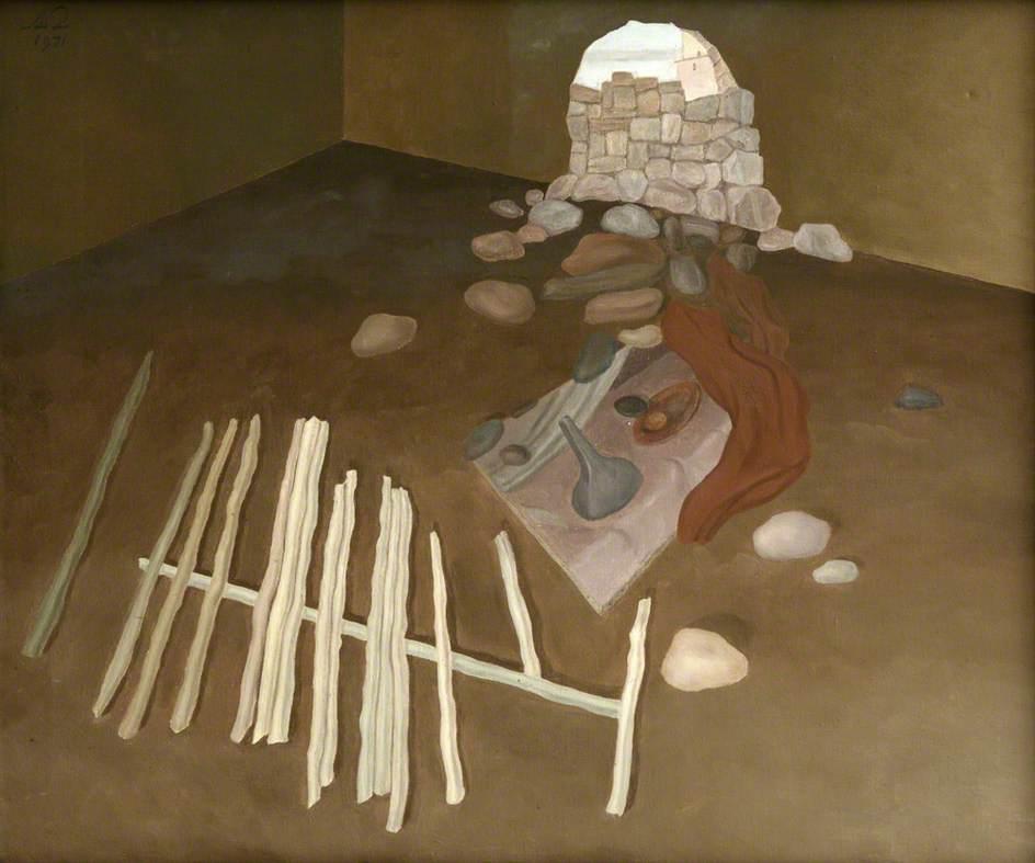 Interior II (Stones and Wood)