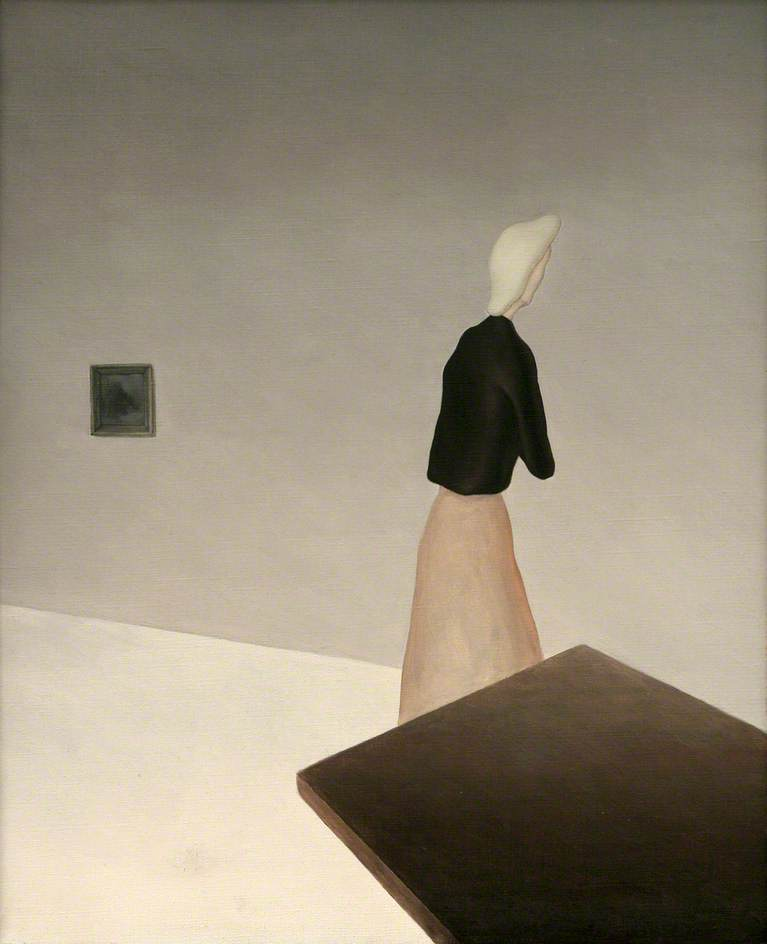 Woman and Table